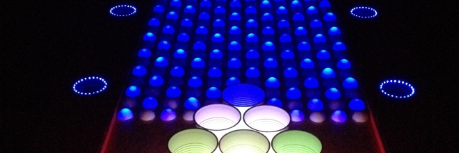 The First Interactive LED Beer Pong Table