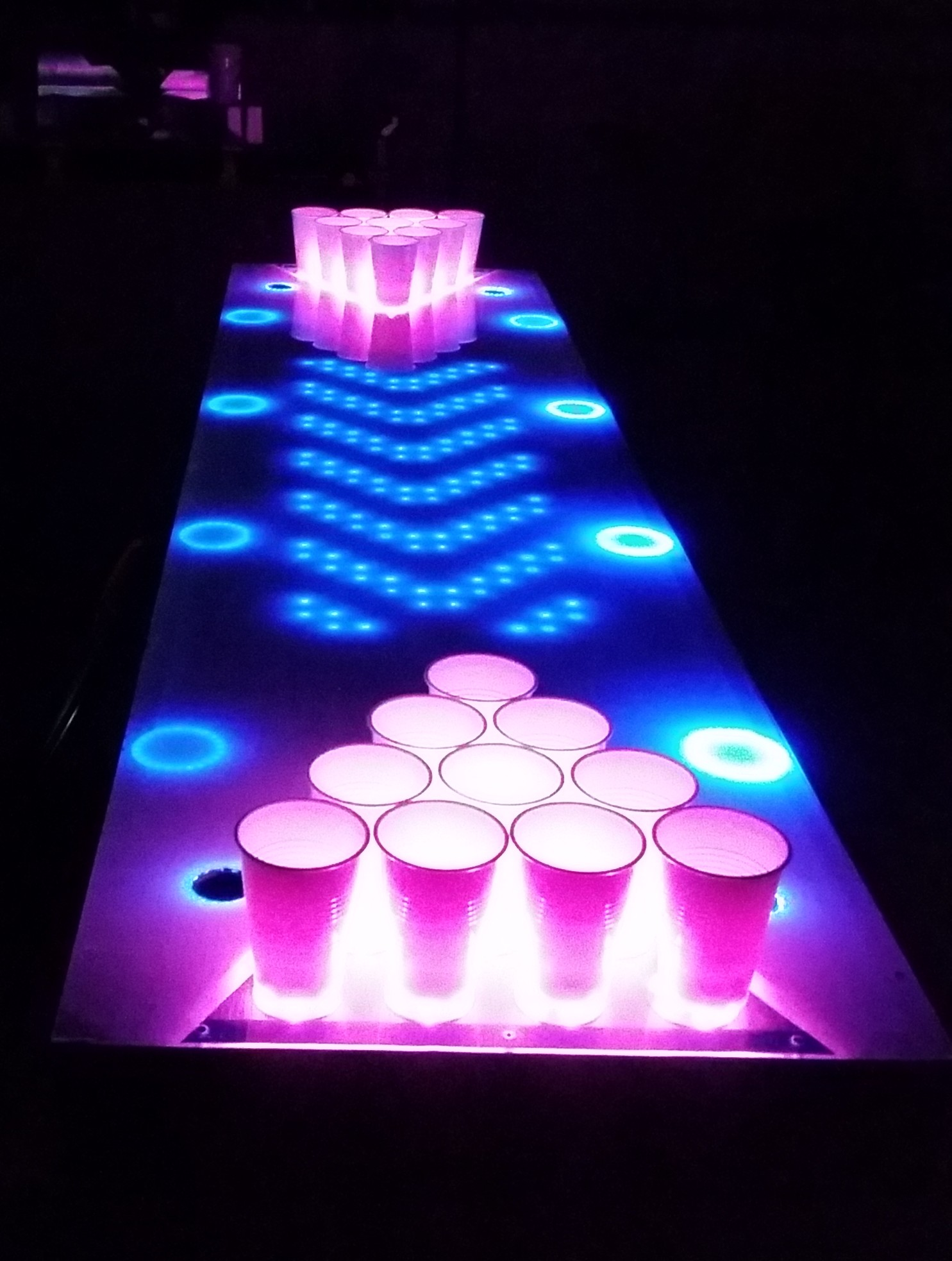 Final Prototype For The Interactive LED Beer Pong Table