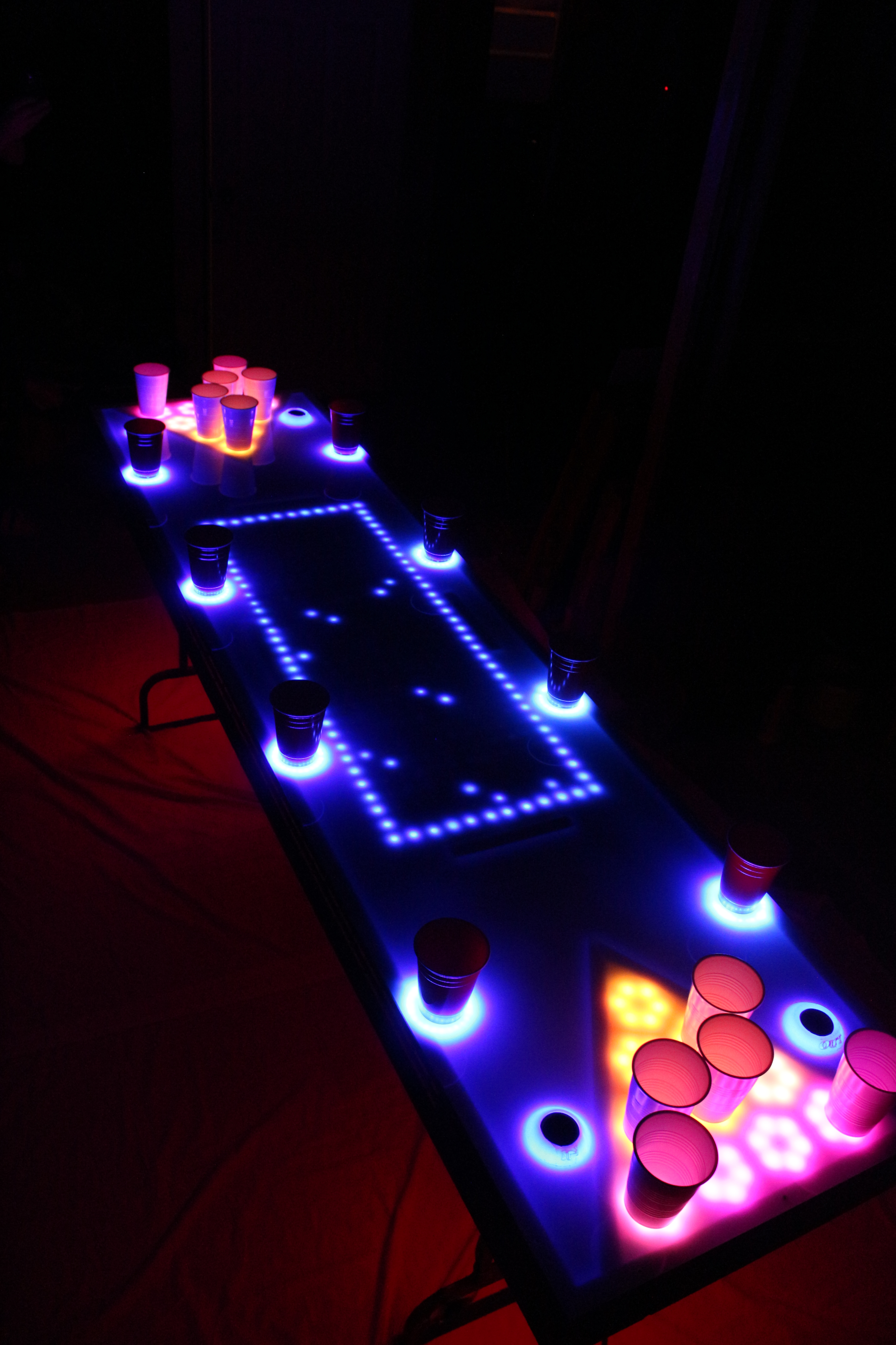 Interactive led beer pong table x5 chexal - Interactive led beer pong table ...