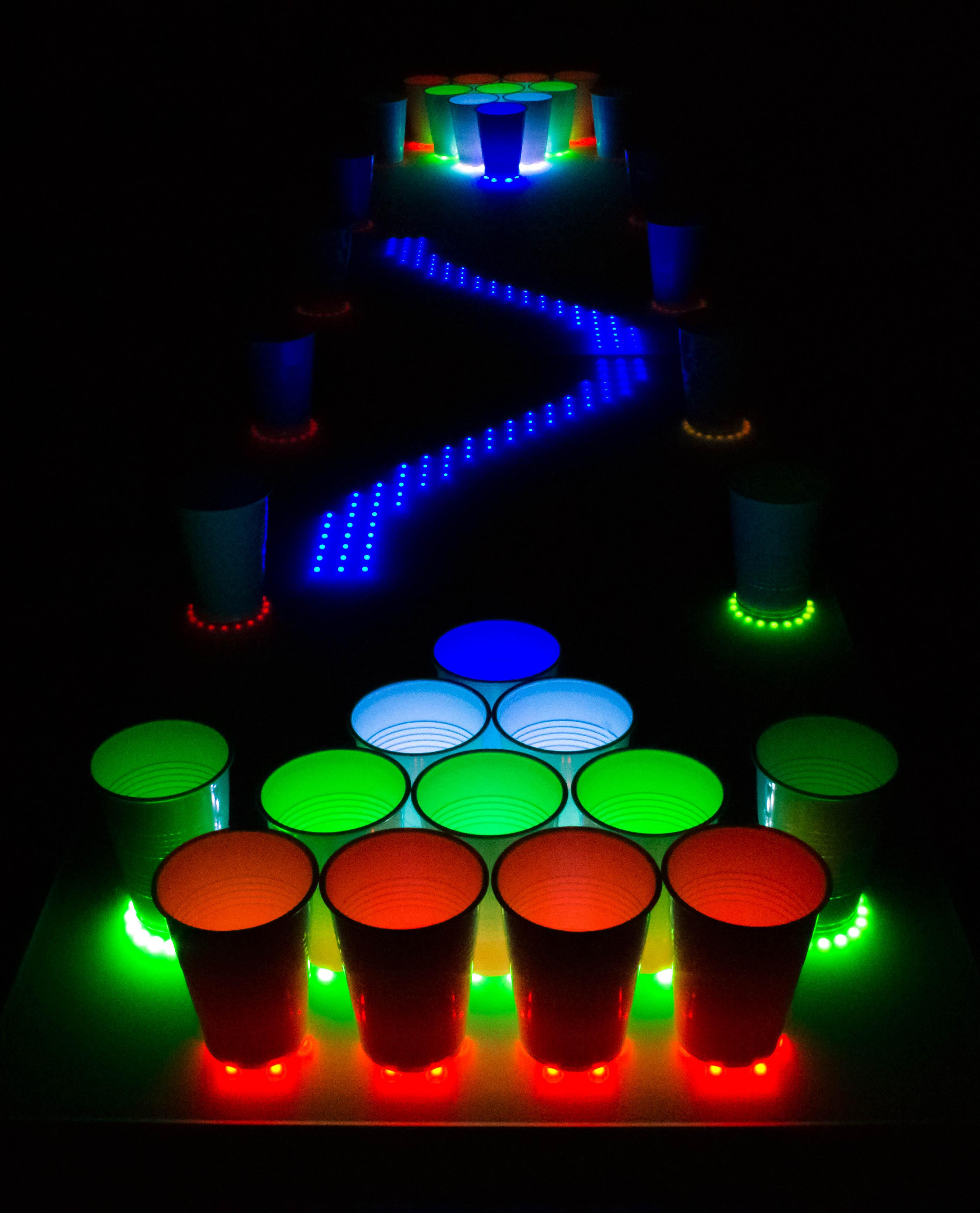 Ravetable interactive beer pong table chexal - Interactive led beer pong table ...