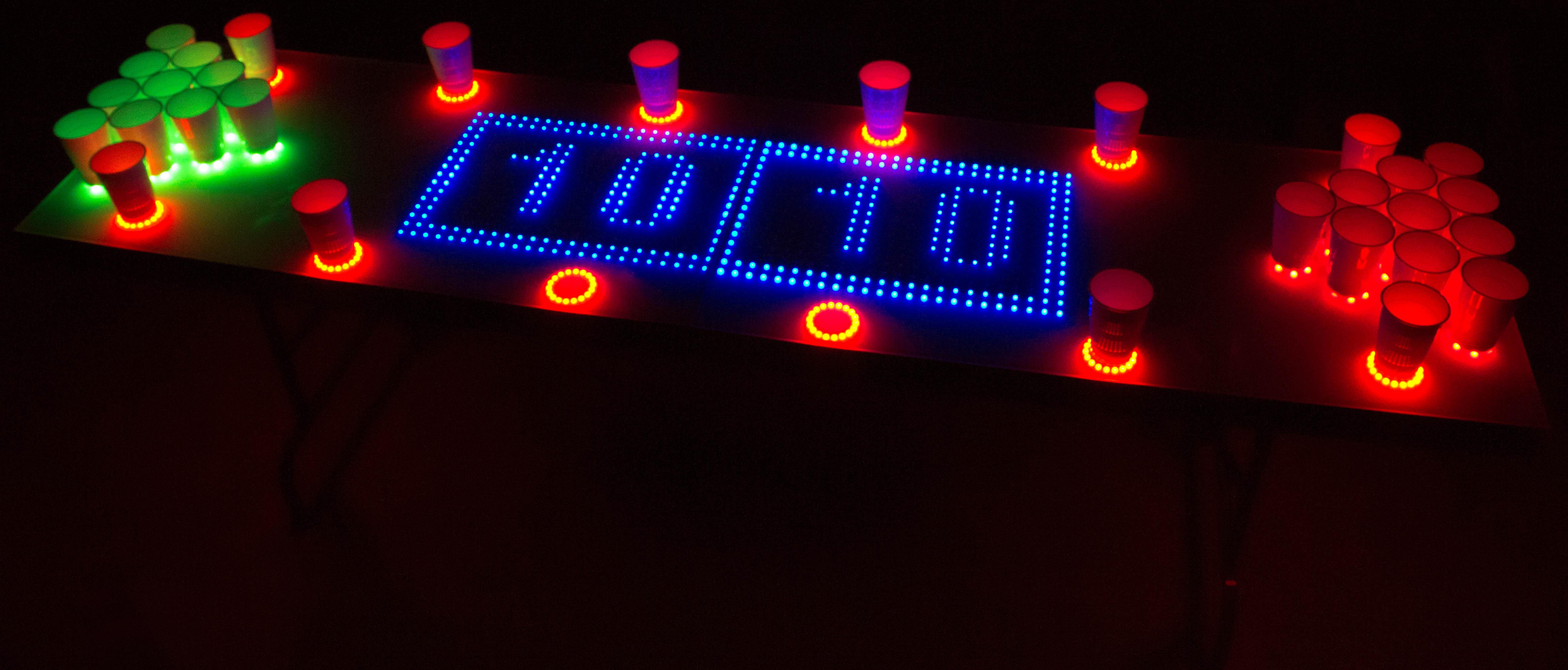 Ravetable Interactive Beer Pong Table Chexal